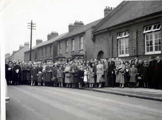 Welling, UK : Wellspring church grand opening c1955