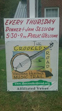 Narrows, VA: Thursday night dinner and Old Time Mountain Music jam session