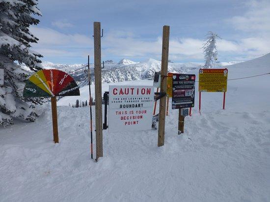Grand Targhee Ski Resort: Avalanche gates on the left side of the trail.