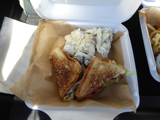 Cafe 33: BLT with Cheese and Potato Salad