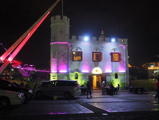 Square Tower which houses Magenta Restaurant