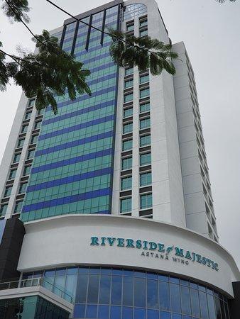Riverside Majestic Hotel: New Astana Wing as seen from Kuching Waterfront