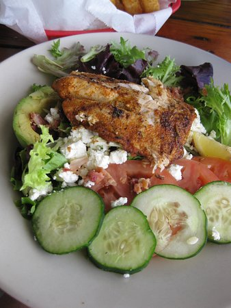 Crescent Beach, FL: The Fish California Salad with 5 ounces of fresh Red Snapper