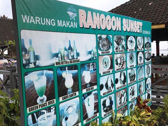 Pemaron, إندونيسيا: Sign at restaurant
