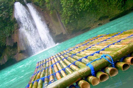 Kawasan Falls and Mantayupan Falls in...