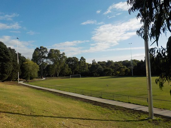 Brunswick East, Australia: Soccer field from stadium