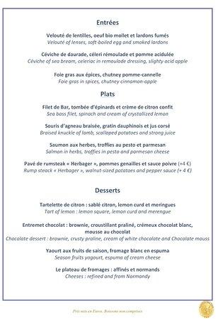 Saint-Pierre-du-Vauvray, Frankrike: La carte change tous les mois ! Ici celle de mars à mi-avril : valable pour le dimanche de Pâque