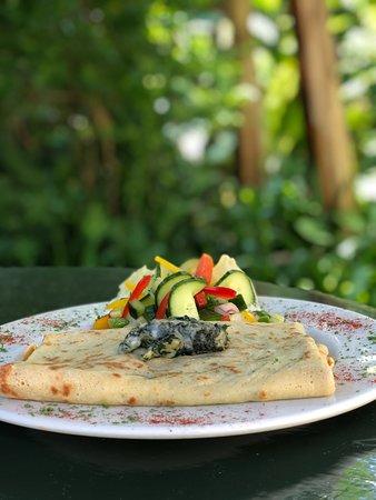 Port Edward, South Africa: Spinach & Feta Pancake