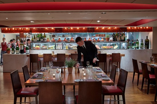 The dining room at Bar Boulud, London