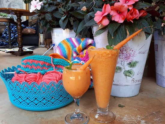 Potchefstroom, Sudáfrica: Smoothies with breakfast