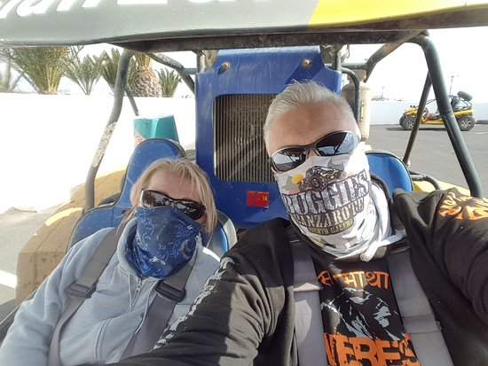 Lanzarote, Spain: Us in our Buggy