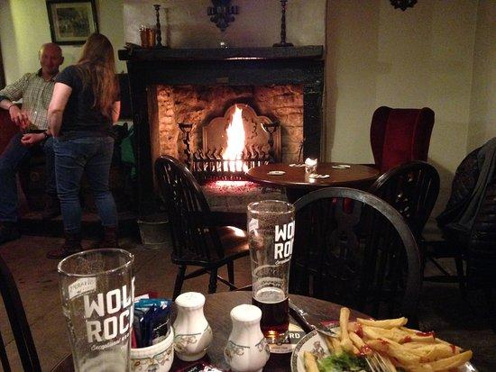 Garrigill, UK: Nice fire at the pub