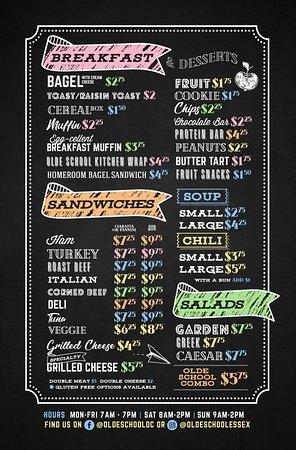 Essex, كندا: our menu