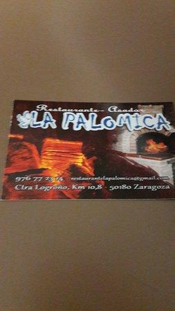 La Palomica: tarjeta del local