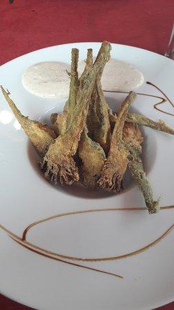Utebo, Spain: alcachofas rebozadas
