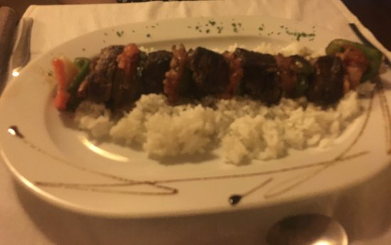 ONIX Restaurant Bar: Beef Skewer with Rice
