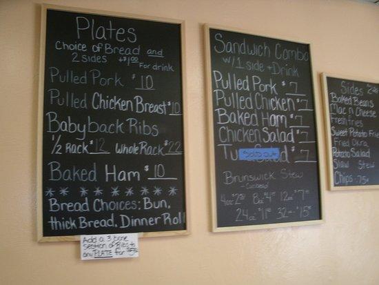 McDonough, GA: The menu is on the wall.