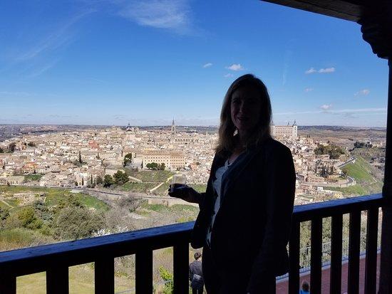 Parador de Toledo: The amazing view from our balcony!!