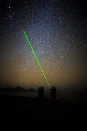 Tryphena, New Zealand: The Good Heavens team use laser pointers to point out constellations