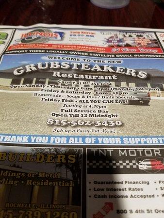Rochelle, IL: Grubsteaker's