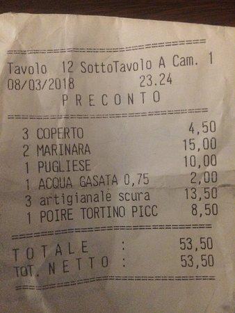 Maslianico, Italia: Ottima pizza, forse la birra un pò cara ma di qualità!
