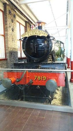 The steam train on display inside Swindon Designer Outlet