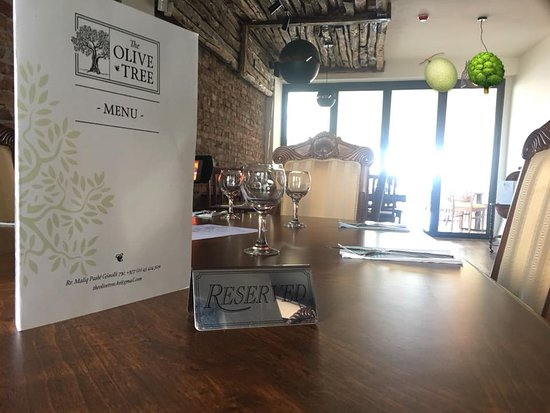 The Olive Tree: our first  floor ViP table its  great for those who likes a bit of privacy