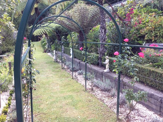 Te Mahia, New Zealand: Rose arbour garden