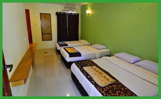 Sukau Greenview Bed & Breakfast: Quadruple Green House