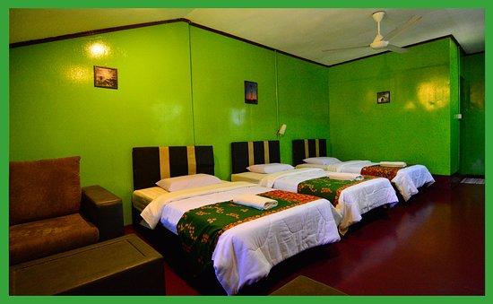 Sukau Greenview Bed & Breakfast: Triple Cabin Room