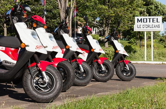Single scooter rental on Ile d'Orleans