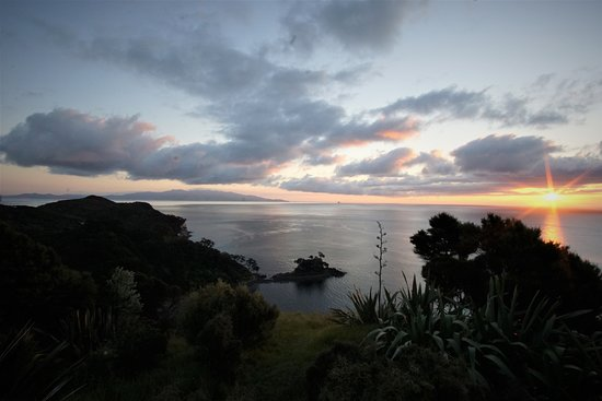 Tryphena, Nieuw-Zeeland: The view from XSPOT.co.nz, one of our stargazing locations (photo: Hilde Hoven)