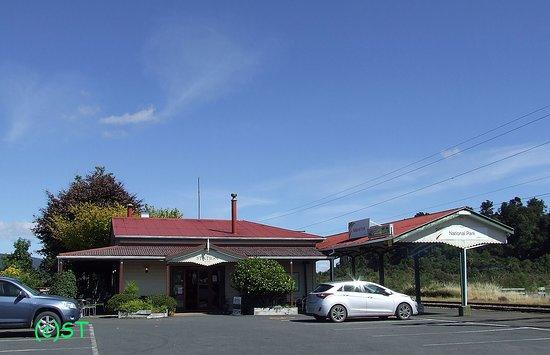 National Park Village, New Zealand: Next to Train Station