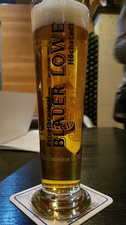 Hochstadt, Germany: gut gezapftes Bier.