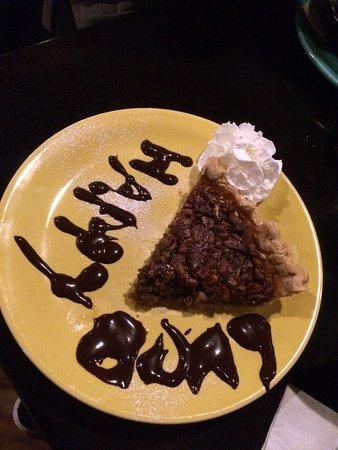Sweet Potatoes Pecan Pie With Happy Birthday