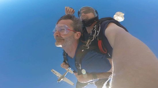 Adelaide Tandem Skydiving: 214 kmh is intense.