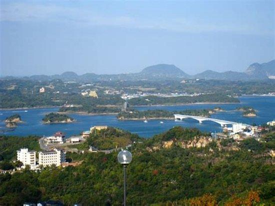 Kamiamakusa, Japón: 天草五橋も見えます