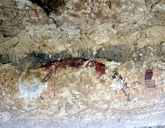 Comstock  Val Verde County, TX: Pictograph figures