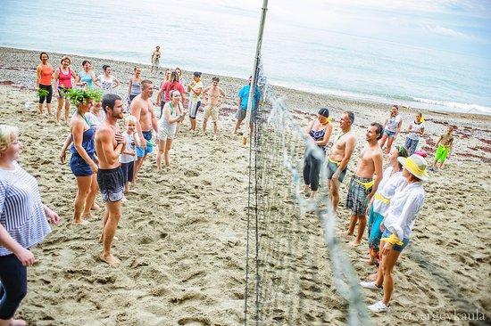 Abkhazia, جورجيا: Пляжный волейбол