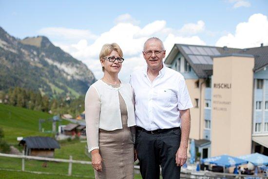 Sorenberg, Swiss: Gastgeberpaar Irène und Willy Kuster-Wicki