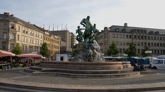 Fuerth, Germany: Centaur Fountain