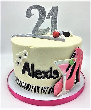 Flavor Cupcakery Bake Shop Custom Womans 21st Birthday Cake
