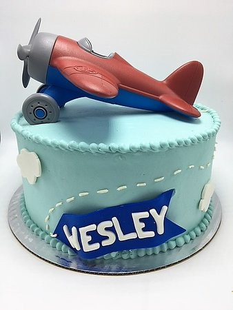 Super Boys First Birthday Plane Theme Cake Picture Of Flavor Personalised Birthday Cards Veneteletsinfo