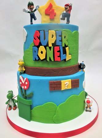 Groovy Super Mario 2 Tier Boys Birthday Cake Picture Of Flavor Funny Birthday Cards Online Elaedamsfinfo