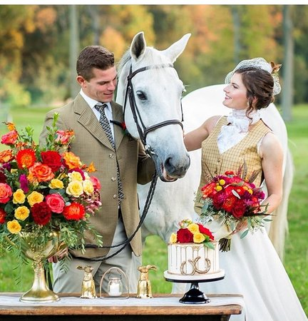 Equestrian Themed Wedding Display Picture Of Flavor Cupcakery