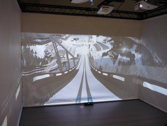 Lahti Ski Museum: Тренажёр прыжков на лыжах с трамплина