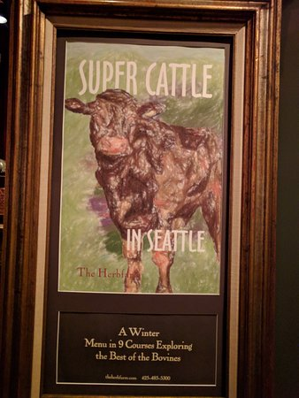 The Herbfarm Restaurant: Super Cattle is what's on right now....