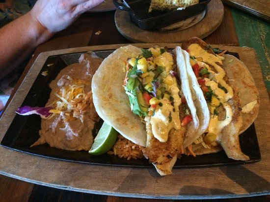 Fish tacos picture of nacho daddy summerlin las vegas for Fish daddy s menu