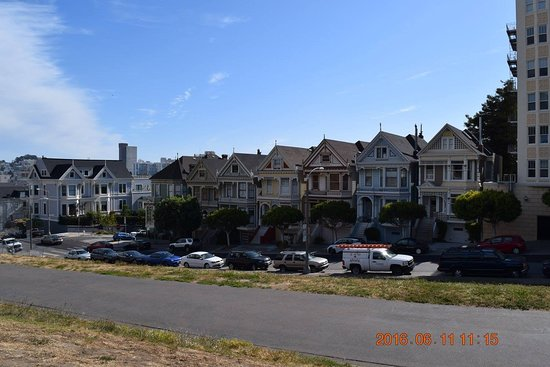 Painted Ladies Seen In Full House Picture Of San Francisco