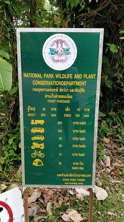 Khao Phra Thaeo National Park: Tarif